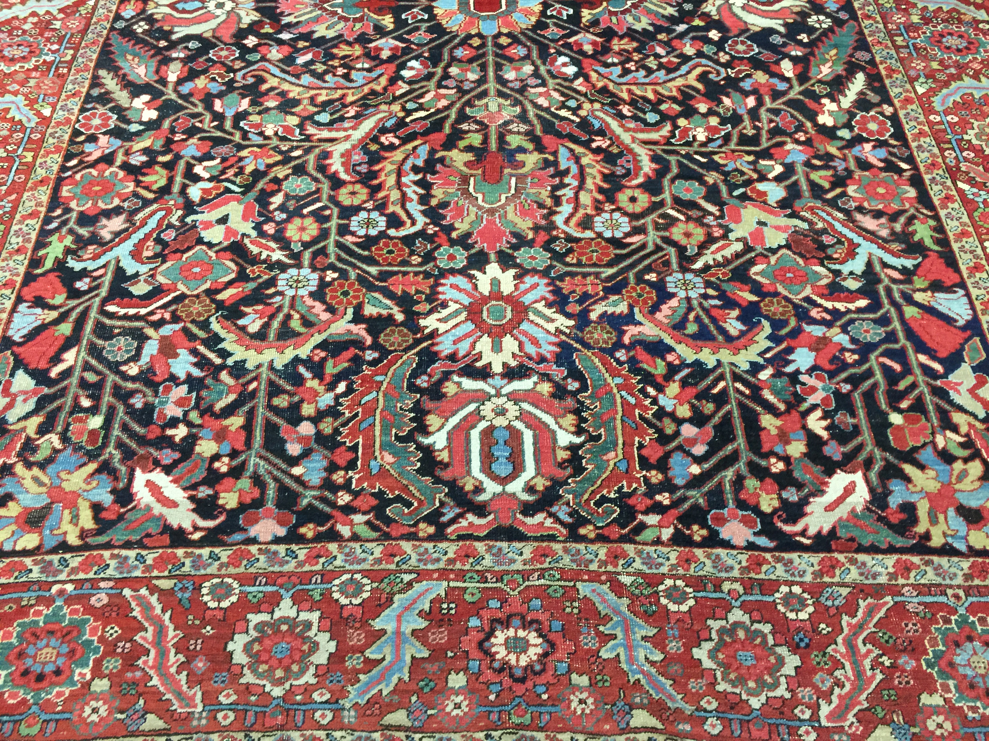 9A0417 Persian Heriz 8.10x11.8  (3)
