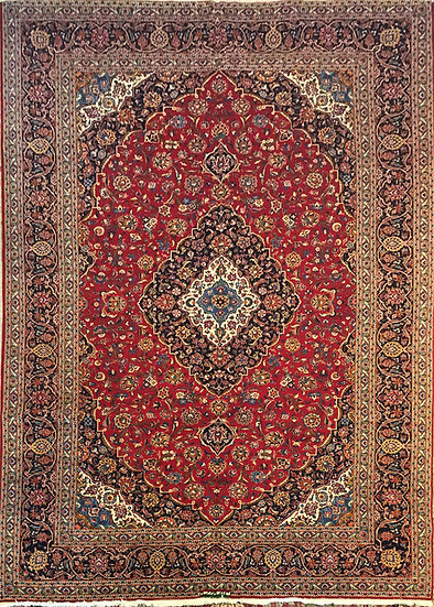 O25 Persian Kashan 11.3x16
