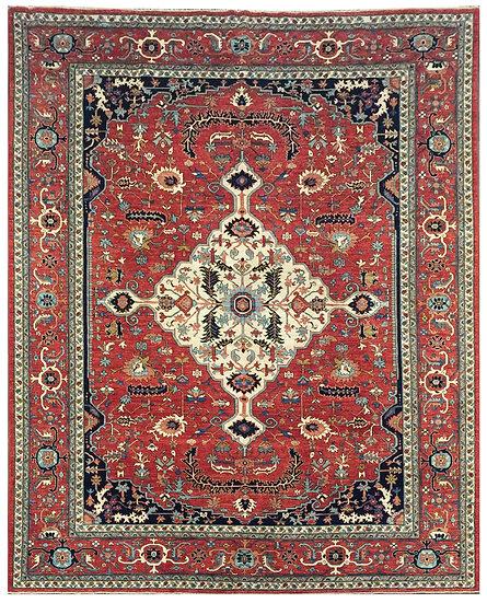10A0178 Afghan Serapi 10x13.7