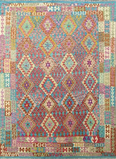 K145 Afghan Kilim 7x9.7