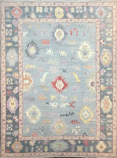 10A0296 Afghan Oushak 9.11x13.9