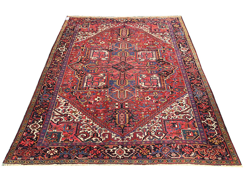9122 Persian Heriz 8.9x11.7