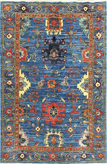3A0298 Afghan Heriz 3.4x5.1