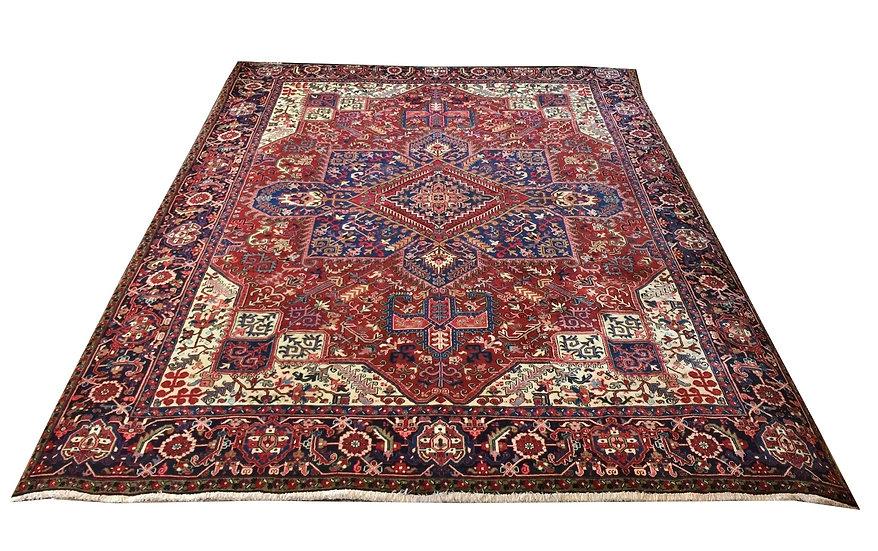 9053 Persian Heriz 9.3x12.1