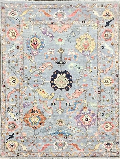 5A0198 Afghan Oushak 4.10x6.11