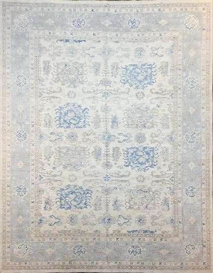 10A0325 Afghan Oushak 10x13.8