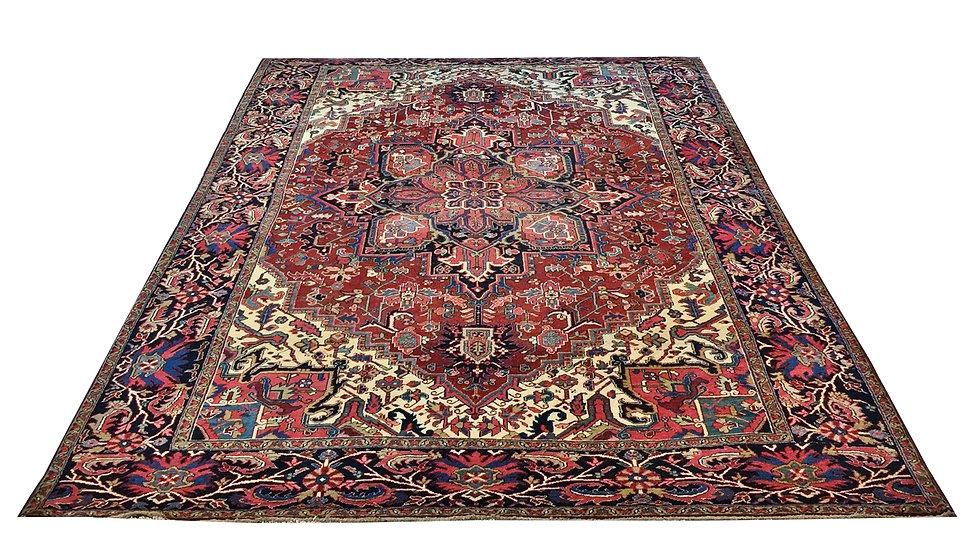 9001 Persian Heriz 8.8x12.1