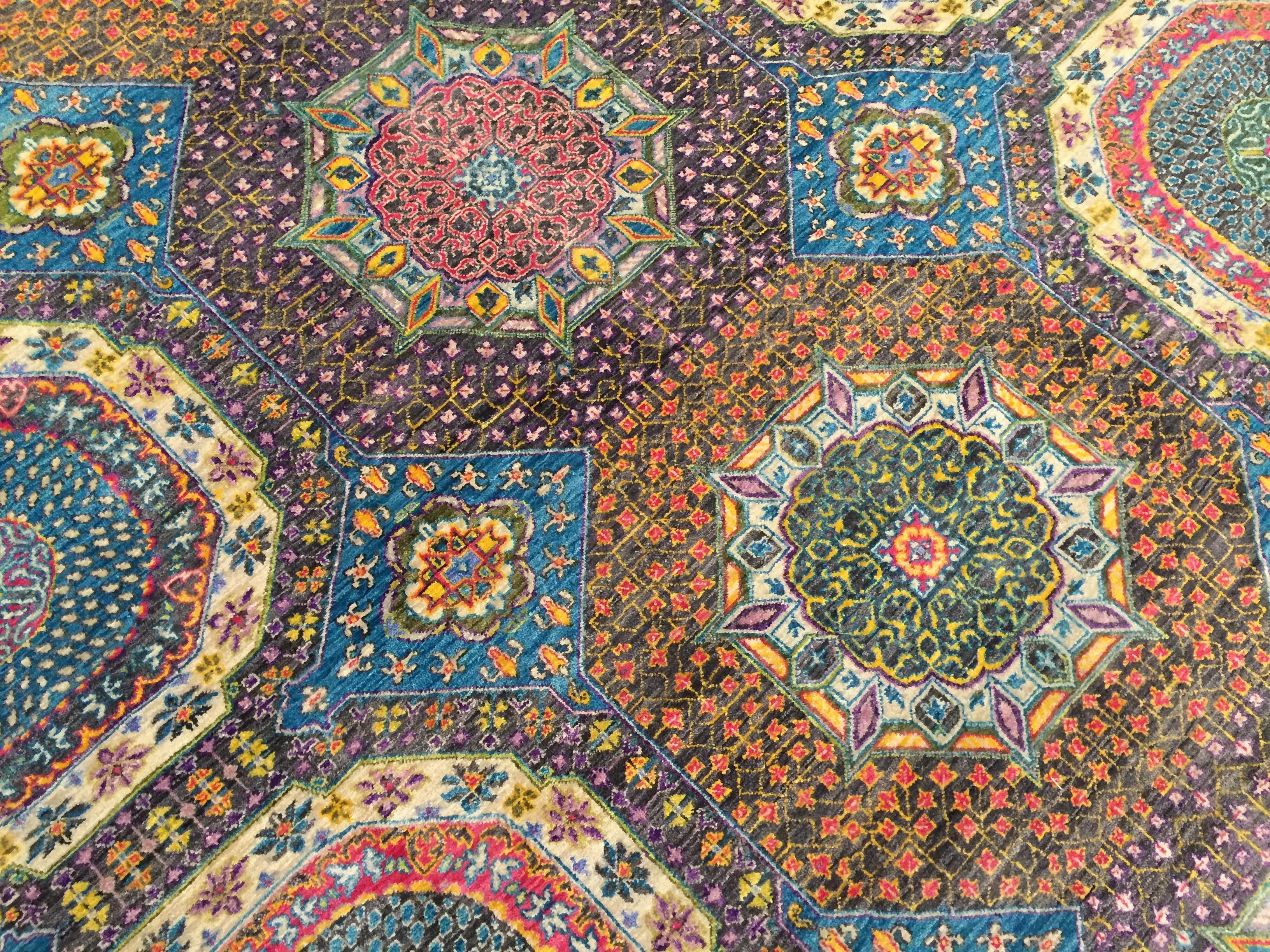 8A180 Indian Sari Mamluk 8.3x10.2