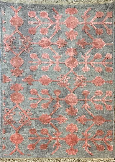 2A0154 Indian Modern Wool & Bambo Silk