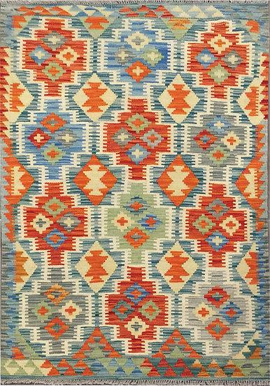K163 Afghan Kilim 3.4x4.9