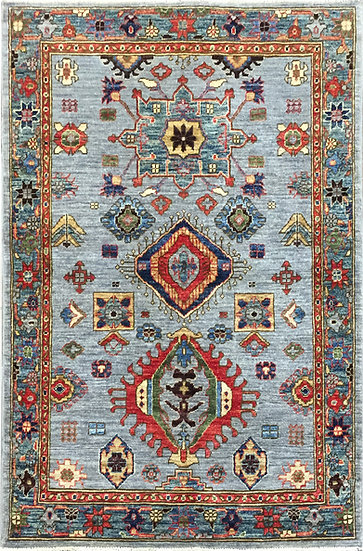 3A0294 Afghan Heriz 3.6x5.1