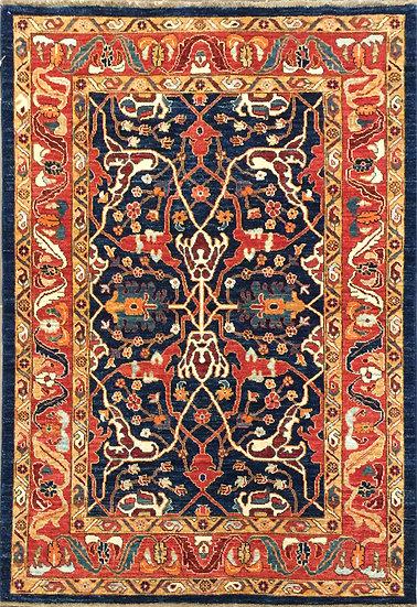 4A0104 Afghan Heriz 4.2x5.9