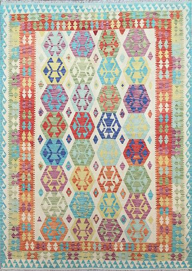 K182 Afghan Kilim 6.7x9.10