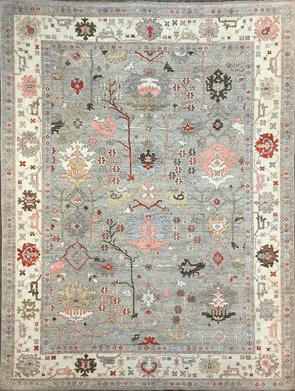 10A0299 Afghan Oushak 10x13.4