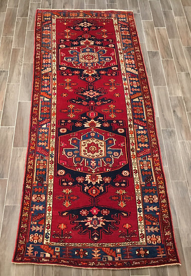 W24 Persian Heriz 4.5x11