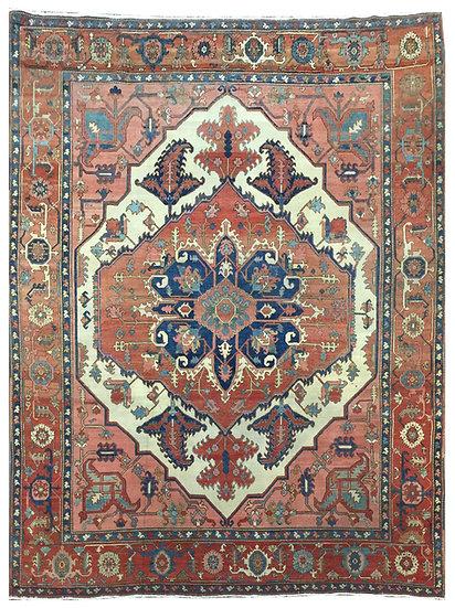 9A0373 Persian Serapi 9.6x11.5