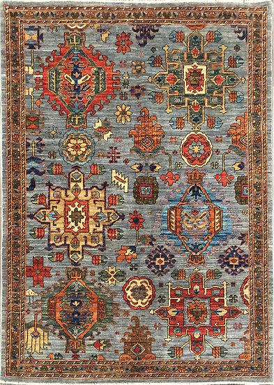 4A0181 Afghan Serapi 4x6.3