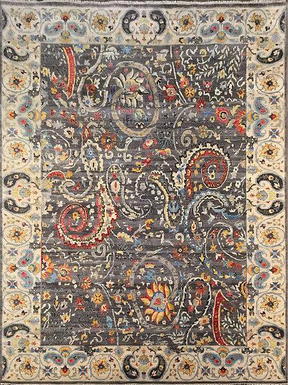 10A0214 Indian Sari Suzani 10x14