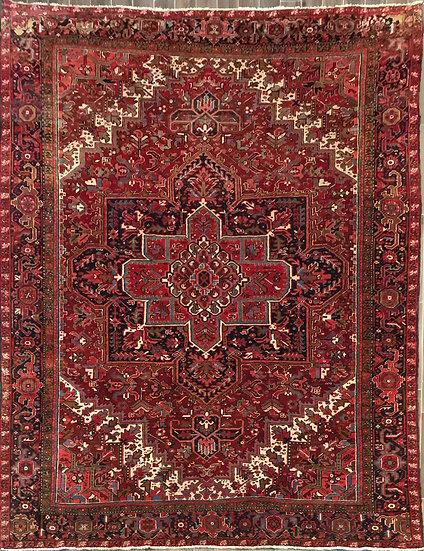 10A0130 Persian Heriz 10.7x12.5