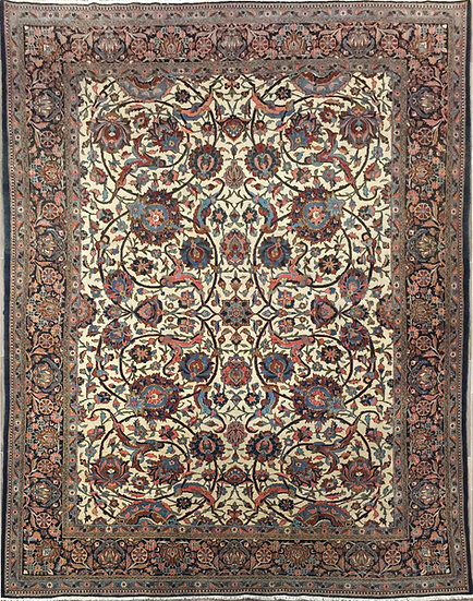 9A0292 Persian Kashan 9.2x12.2