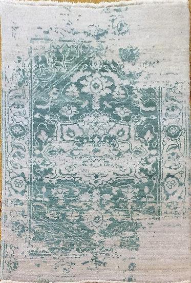 2A0111 Indian Heriz Modern Wool&Silk