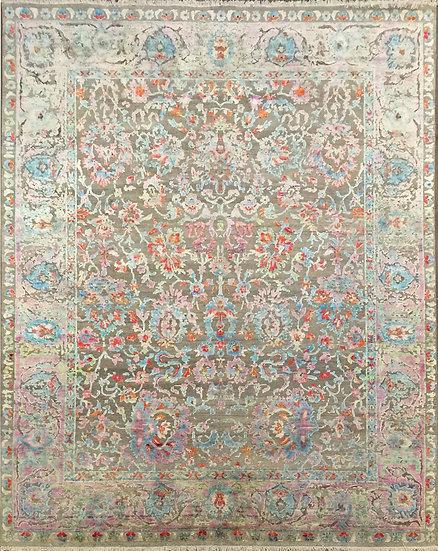 9A0299 Indian Sari Silk 9.1x12.2