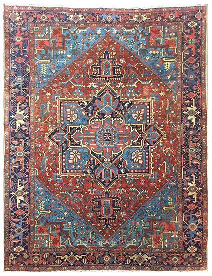 9263 Persian Heriz 8.8x11.7
