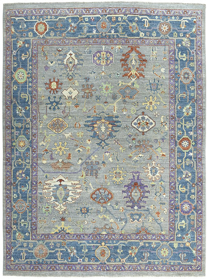 8250 Afghan Oushak  8.2x10.5