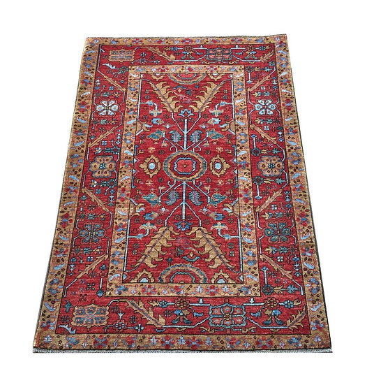 3056 Afghan Serapi 3.4x4.10