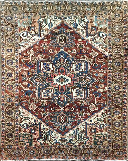 9A0407 Persian Heriz 9x11
