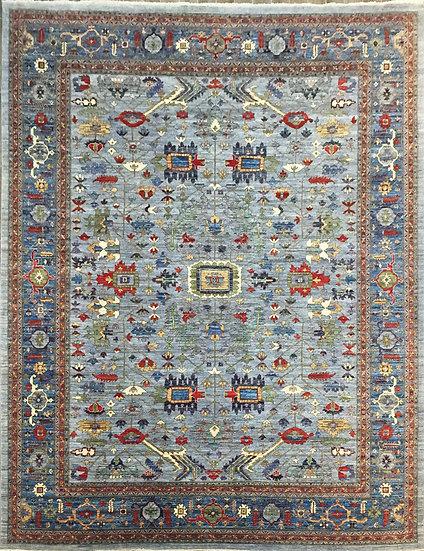 O55 Afghan Heriz 11.9x14.10