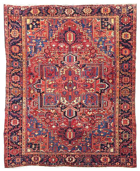 8251 Persian Heriz 8.5x10.6