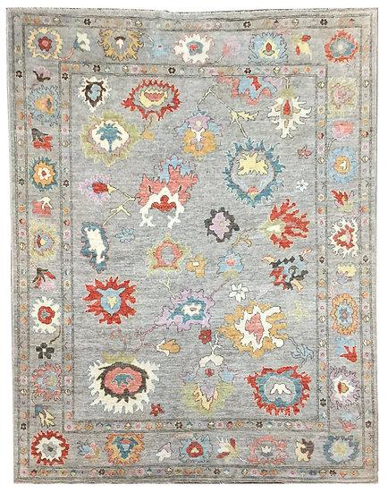 9A0431 Afghan Oushak 8.9x11.6