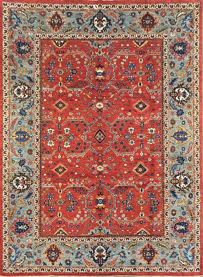 9201 Afghan Heriz 8.9x11.10