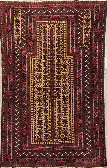 3A0189 Afghan Baluch 2.11x4.11