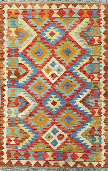 K164 Afghan Kilim 3.3x5.2
