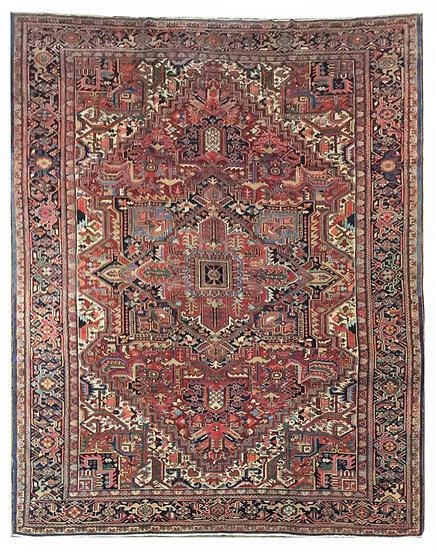 O20 Persian Heriz 11.6 x 15.2