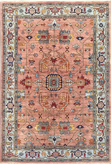 4283 Afghan Heriz 4.3x6.2