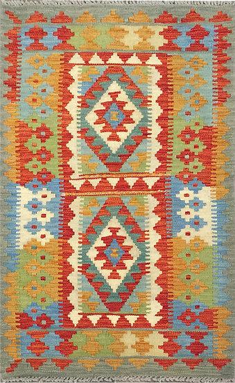 K162 Afghan Kilim 2.8x4