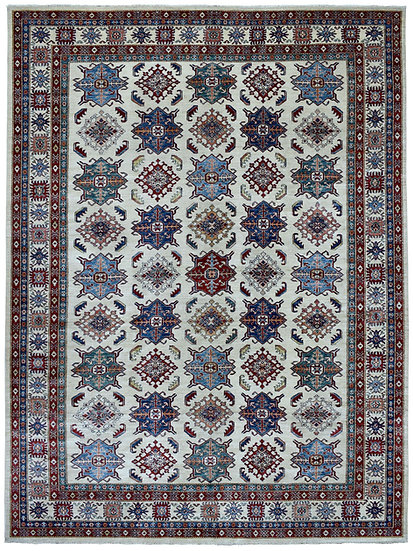 9219 Afghan Kazak 9.3x12.7