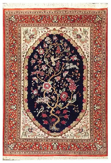 3A0235 Persian Qom _0 Silk 3.1x4.8