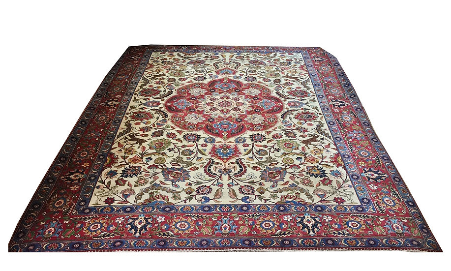 9037 Persian Tabriz 9.5x12.4