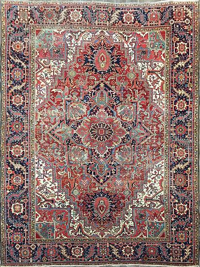 9A0458 Persian Heriz 8.10x12.4