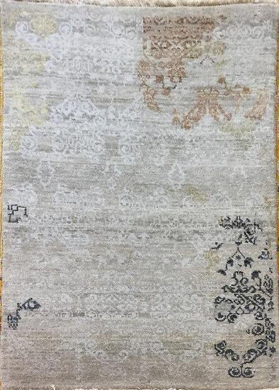 2A0122 Indian Modern Wool&Silk