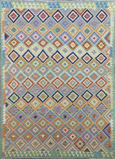 K184 Afghan Kilim 6.7x9.9