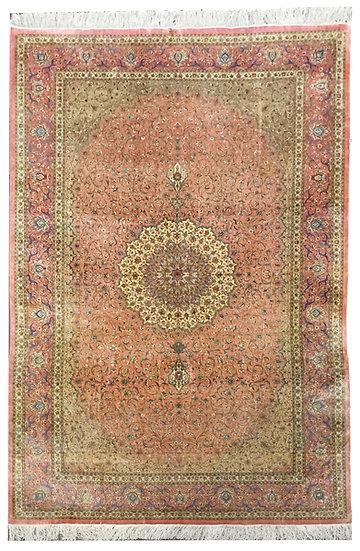 6A0157 Persian Qum %100Silk 6.4x9.9