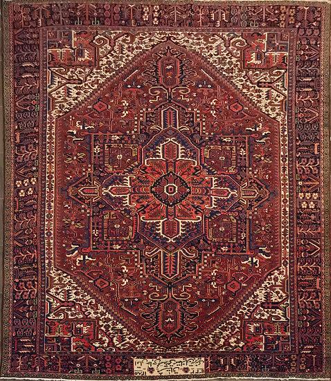 O28 Persian Heriz 11.1x16.3