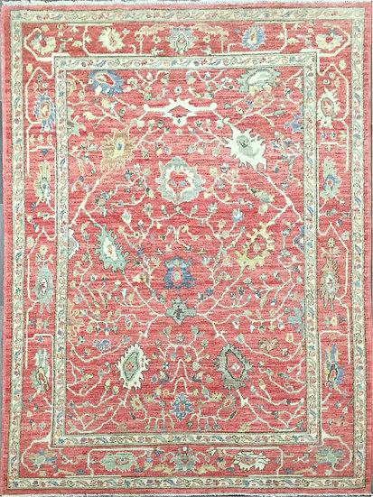 6A0210 Afghan Oushak 6x9.5