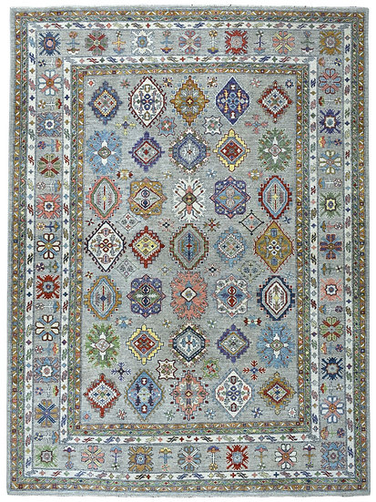 9A0282 Afghan Kazak 9x12.6