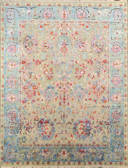 9A0298 Indian Sari Silk 9x12.2